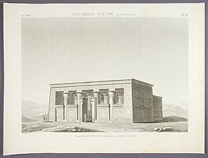 Environs d'Esné (Latopolis) Vue Perspective du Temple: DESCRIPTION DE L'EGYPTE]