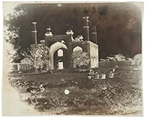 [Group of 8 waxed paper collodion negatives depicting scenes and landscape in India]: MURRAY, Dr. ...