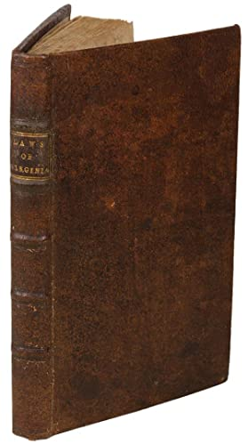An Abridgement of the Publick Laws of Virginia, in force and use, June 10. 1720. To which is added,...