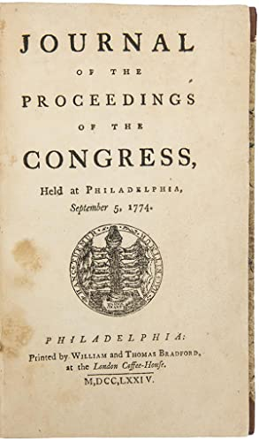 Journal of the Proceedings of the Congress,: CONTINENTAL CONGRESS]