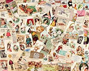 Collection of scrapbooks containing over a thousand trading cards, advertisements, and other ...