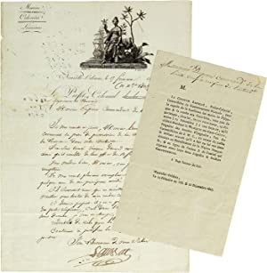 [Manuscript letter signed, from Lausat, the French Colonial Prefect of Louisiana, to Captain Guil...
