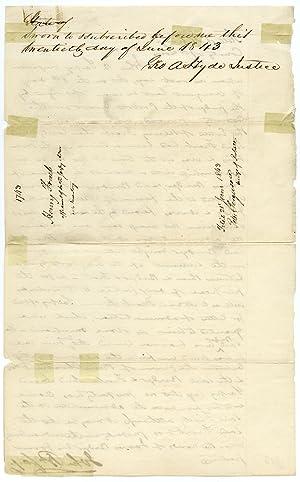 Manuscript Document Signed by John P. Sarpy: BRIDGER, JIM]: [SARPY,