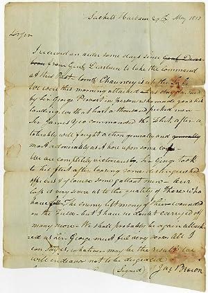 Autograph Letter, Signed, Written to Joshua Hatheway: WAR OF 1812]: