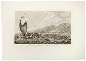 Tereoboo, King of Owyhee, Bringing Presents to Capt. Cook: WEBBER, John (1752-1793)
