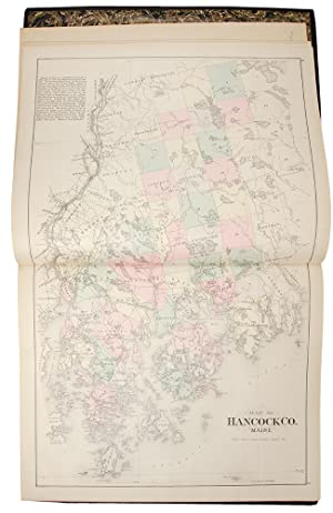 Atlas of Hancock County Maine Compiled and Published under the direction of Geo. N. Colby . Drawn ...