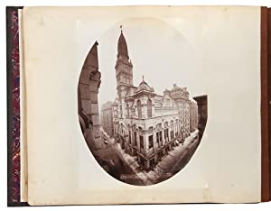 [Album containing 154 albumen photographs of Chicago by a noted photographer, including important...
