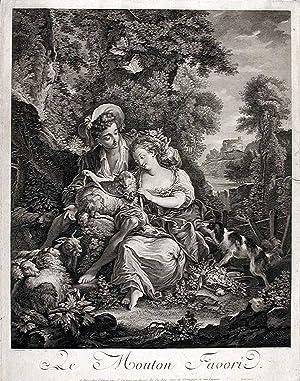 Le Mouton Favori: GAILLARD, Robert (1722-1785) after Charles EISEN (1720-1778)