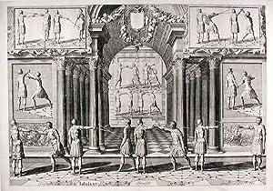 Plate from 'Academie de l'Espee': THIBAULT, Girard - Pieter van SERWOUTERS (1586-...