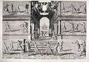 Plate from 'Academie de l'Espee': THIBAULT, Girard - Johann GELLE (d. circa 1625)