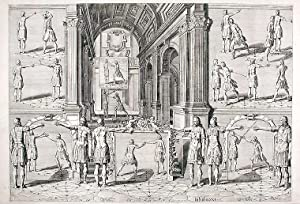 Plate from 'Academie de l'Espee': THIBAULT, Girard - Crispyn Van den QUEBORNE (d...