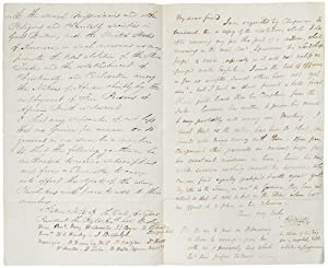 Autograph letter signed to Member of Parliament Benjamin Hawes, sending him the proposed resolution...