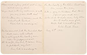 Autograph manuscript signed, the complete five stanzas of the Battle Hymn of the Republic: HOWE, ...