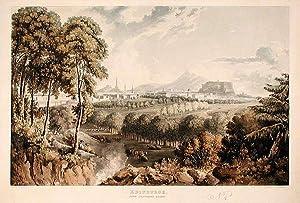 Edinburgh, From Craigleith Quarry: SUTHERLAND, Thomas (b. 1785) after John GENDALL (1790-1865)