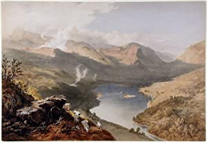 Grassmere from Loughrigg Fell: PYNE, James Baker (1800-1870) lithographed by W. GAUCI