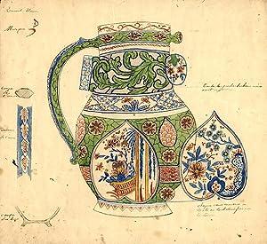 An original design for a porcelain pitcher: SAMSON & CO. (designers)