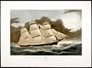 Clipper Ship Dreadnought off Tuskar Light, 12 1/2 days from New York on her celebrated passage in...