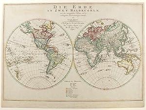 Double Hemisphere World Map] Die Erde in: MANNERT, Conrad von