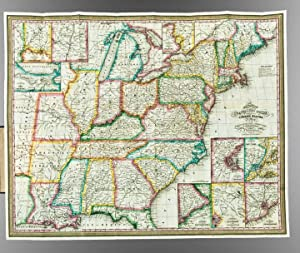 Mitchell's Travellers Guide Through the United States. A Map of the Roads, Distances, Steam Boat ...