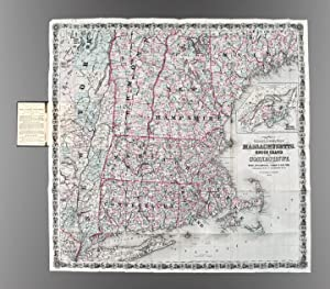 Colton's Railroad & Township Map of Massachusetts, Rhode Island, Connecticut with parts of Maine,...