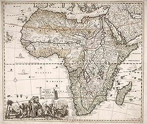 Africa] Accuratissima Totius Africae Tabula in Lucem Producia Per Tacobum de Sandrart Norimbergae: ...