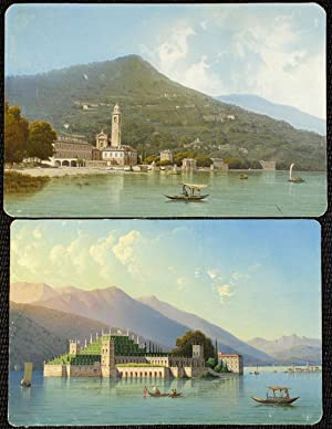 Isola Bella , Lago Maggiore; and the Bell Tower of Bellagio, Lago Como]: BARTEZZATI, Luigi (1820-...