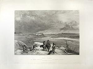 Fort Clark. On the Missouri (February 1834): BODMER, Karl (1809-1893)