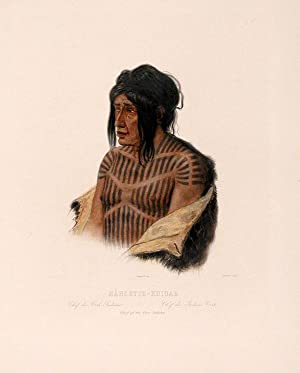 Mähsette-Kuiuab Chief of the Cree-Indians: BODMER, Karl (1809-1893)