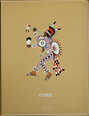 Kiowa Indian Art. Watercolor paintings in color by the Indians of Oklahoma