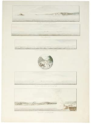 A group of six views printed on: DES BARRES, J.F.W.