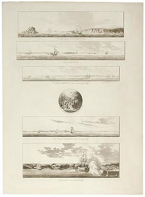 A group of six views near Halifax: DES BARRES, J.F.W.