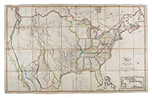 Map of the United States with the contiguous British and Spanish Possessions Compiled from the la...