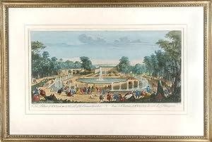 The Palace of St. Cloud on the side of the Orange Garden / Vue de Chateau de St. Cloud du ...