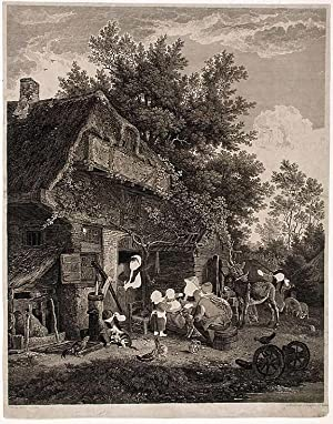 Working Proof of a Country Cottage]: BROWNE, John (1741-1801) after a painting by Cor. Du SART