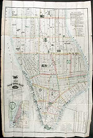 Map of New York City south of 46th. St