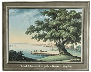 Philadelphia von dem grossen Baum zu Kingston. [Philadelphia from the Great Tree of Kingston (i.e...