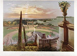 View from the Upper Terrace Walk, in the Gardens at Shrublands: BROOKE, After Edward Adveno (1821-...