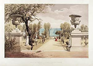 View in the Gardens at Westfield House, (Isle of Wight.) The Seat of Sir Agustus Clifford Bart: ...
