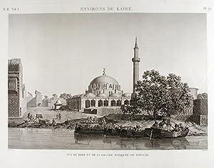 Environs du Kaire. Vue du Port et de la Grande Mosquée de Boulâq: DESCRIPTION DE ...