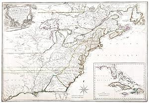 Carte Generale des Colonies Angloises dans l'Amerique: PHELIPPEAUX, Rene (1748-1784)