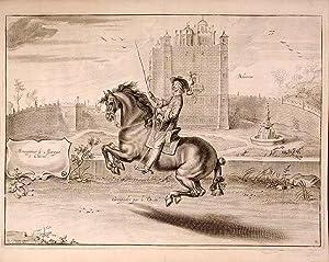 Bolsover. Monseigneur le Marquis à Cheval. Groupades par le Droite: NEWCASTLE, William Cavendish, ...