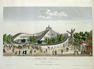 Promenades Aeriennes, Jardin Baujon. Honoré de la: GARNERAY, Ambroise Louis