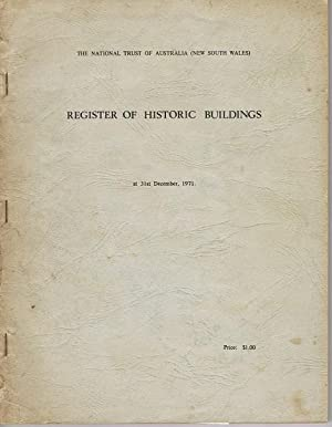 Register of Historic Buildings at 31st December, 1971