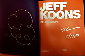 Jeff Koons: Celebration ( Signed with Drawing: Jeff Koons: Anette