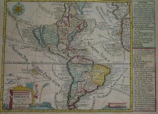 Map North South America California