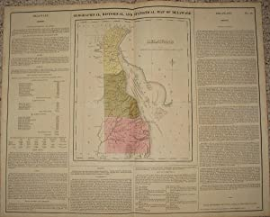 (Map of Delaware): Geographical, Statistical, and Historical Map of Delaware
