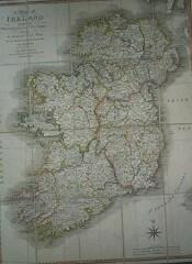 (Linen-Backed, Folding Chart, 20 Panels): A Map of Ireland Divided Into Provinces and Counties, S...