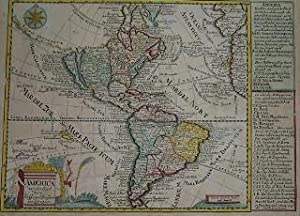 (Map, North & South America, California Island): America.