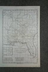 (Map of Southeastern USA): Carte de la Louisiane, et de la Floride.