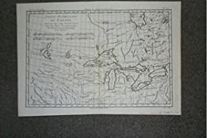 (Map of Western Canada, Great Lakes): Partie Occidentale du Canada, contenant les cinq Gands Lacs...